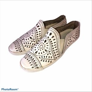AERIN LEATHER PERFORATED SNEAKERS 7